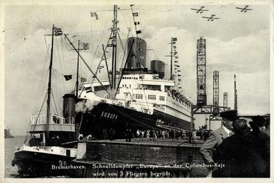 Bremerhaven, Norddeutscher Lloyd, Dampfer Europa