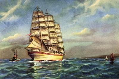 Künstler Segelschiff, Kutter, Segelboote
