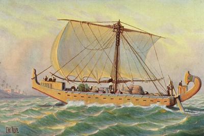 Künstler Rave, C., Segelschiff, Ägypt. Frachtschiff