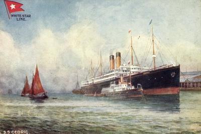 Künstler S.S.Cedric, White Star Line, Dampfer, Tuck