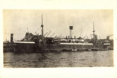 View of the Steamer Alcinous at the Docks