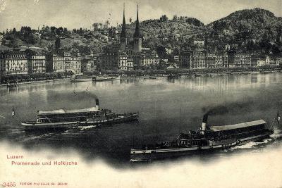 Luzern, Luzerner See, Dampfer Victoria Und Schweiz