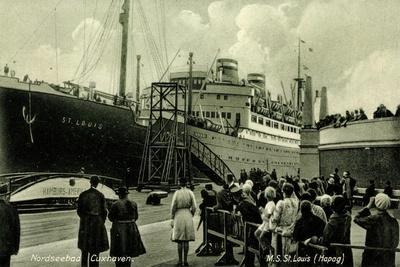 Cuxhaven, Hafen, M.S. St Louis, Hapag, Dampfer