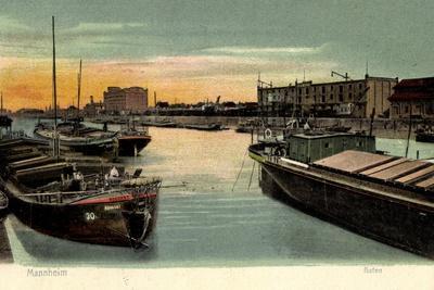 Mannheim, Frachtschiff Hoechst, Im Hafen, Mader