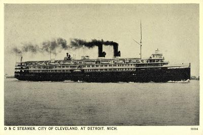 D and C Steamer, City of Cleveland at Detroit Michigan