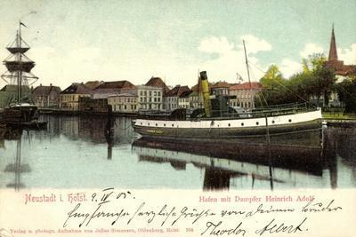 Neustadt I, Holstein, Hafen Mit Dampfer Heinrich Adolf