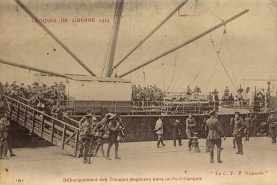 Troupes Anglaises, Port Francais, C.P.A Nouvelle
