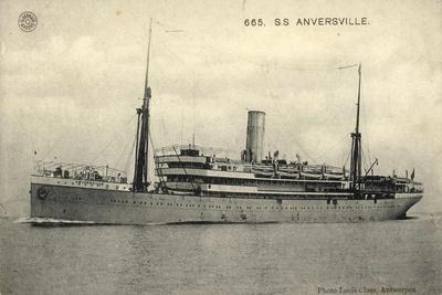 S.S. Anversville, Belgian Line, Dampfschiff