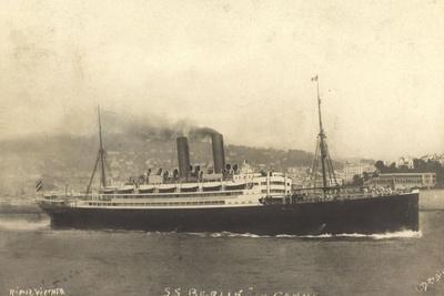 S.S. Berlin in Genua, Lloyd Bremen, Dampfschiff