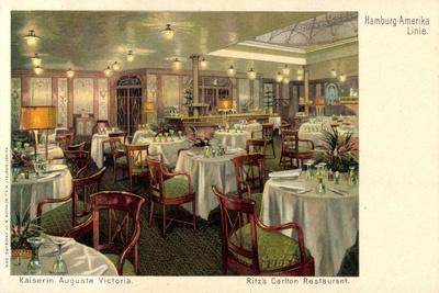 Dampfer Auguste Victoria, Hapag, Ritz C. Restaurant