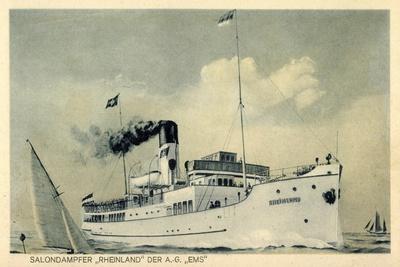 Salondampfer Rheinland Der A.G. Ems, Dampfschiff