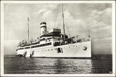 Hapag,Seebäderdienst,Dampfschiff Cobra Vor Helgoland
