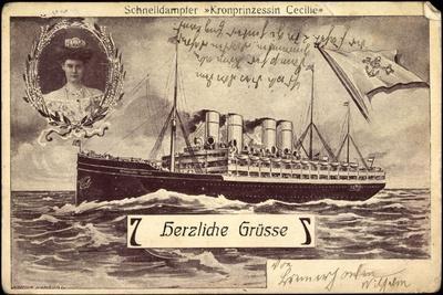 Nordd, Lloyd Bremen, Dampfer Kronprinzessin Cecilie