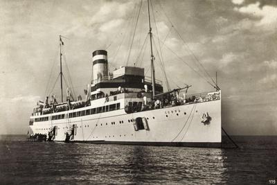 Hapag,Seebäderdienst,Dampfschiff Cobra Bei Helgoland