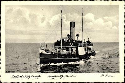 Wyk Auf Föhr, Dampfer Föhr Bei Amrum, Fährschiffe