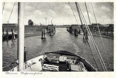 Husum, Blick Vom Schiff in Die Hafeneinfahrt