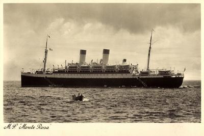 Dampfschiff M.S. Monte Rosa, Motorboot, Hsdg