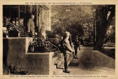 Kaiser Wilhelm II, Hindenburg, Geburtstagsmahl, 70 J