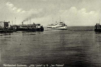 Cuxhaven, Alte Liebe, Dampfschiff Jan Molsen, Hapag