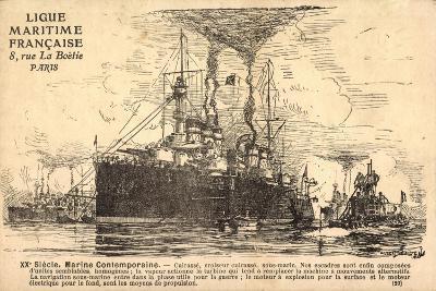 Französisches Kriegsschiff, U Boot,Croiseur,Sousmarin