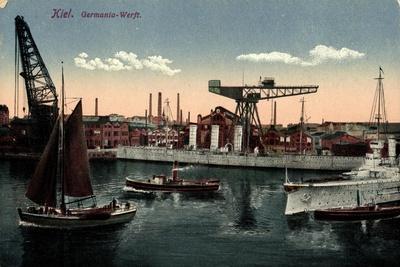Kiel Nord Ostsee Kanal, Germania Werft, Dampfer