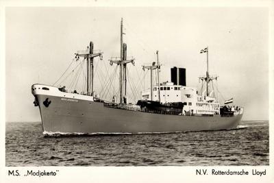 Dampfer M.S. Modjokerto, Rotterdamsche Lloyd