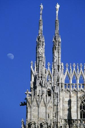Spires, Milan Cathedral, Milan, Lombardy, Italy