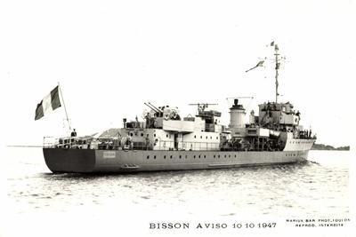 Bisson Aviso 10 10 1947, Kriegsschiffe Frankreich