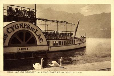 Lac Du Bourget, Dampfer Cygnes Du Lac, Dent Du Chat