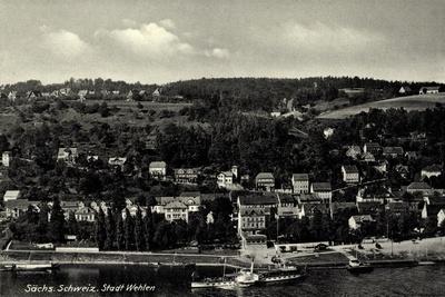 Wehlen Sächs, Schweiz, Dampfer Leitmeritz, Ufer