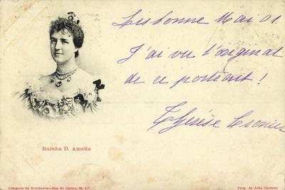 Rainha D. Amelia, Portugal
