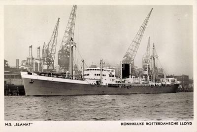 Dampfer M.S. Slamat, Rotterdamsche Lloyd
