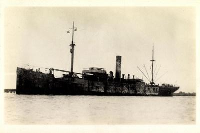 View of the Steamer Cragness Looking Battered