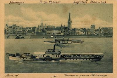 Düsseldorf Rhein, Dampfer Prinz Heinrich, 1924