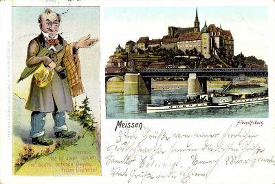 Meißen, Albrechtsburg, Dampfer Meissen, F. Bliemchen