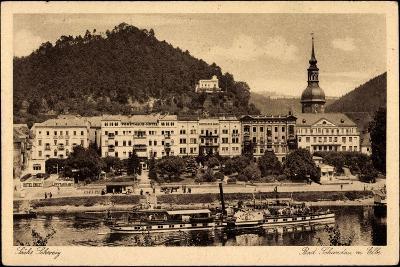 Bad Schandau, Elbe, Dampfschiff Leitmeritz, Ort