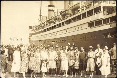 Foto Passagiere, Gruppenfoto, Dampfschiff, 1927