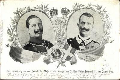 Kaiser Wilhelm Ii, König Victor Emanuel III, 1902