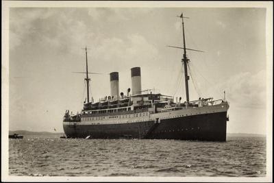 HSDG, Dampfschiff Monte Olivia Vor Anker, Beladung