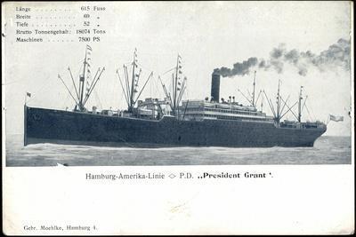 Hapag, P.D. President Grant, Dampfschiff, Rauch