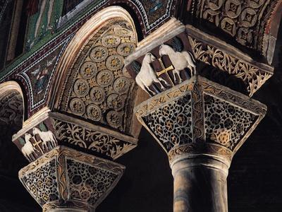 Italy, Emilia-Romagna, Ravenna, Basilica of San Vitale, Interior Detail