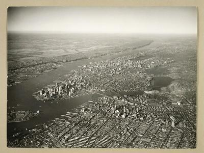 Aerial View of New York in the 1950s United States of America
