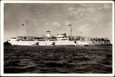 Dampfer Königin Luise Vor Helgoland, Hapag