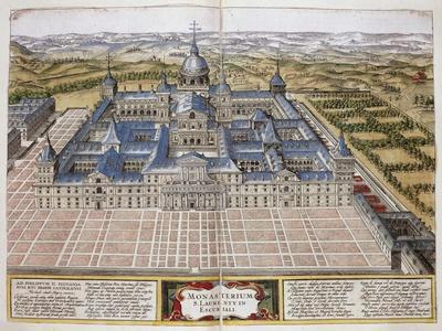 View of Monastery of El Escorial, Near Madrid, Spain, 16th Century