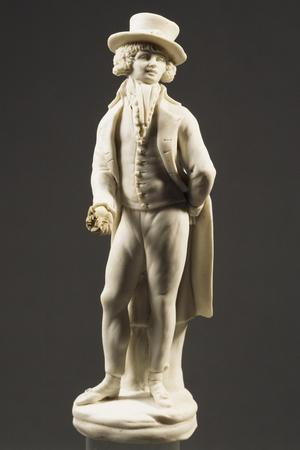 Gentleman Holding Flower in His Right Hand, 1790-1800