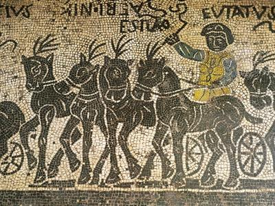Mosaic Depicting Quadriga During Circus Race, Detail