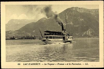 Lac D'Annecy, Dampfer France, Vapeur, Parmelan