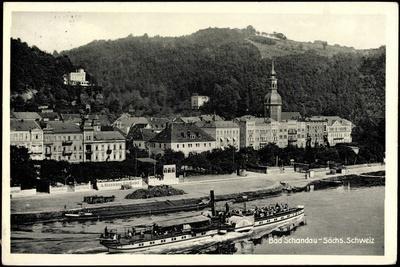 Bad Schandau, Elbe, Dampfschiff Schandau, Ort