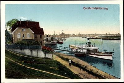 Duisburg Homberg Essenberg, Rhein, Boot, Passant
