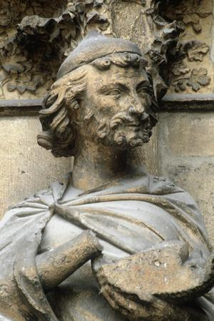 France, Champagne-Ardenne, Reims, Gothic Cathedral of Notre-Dame, Sculpture